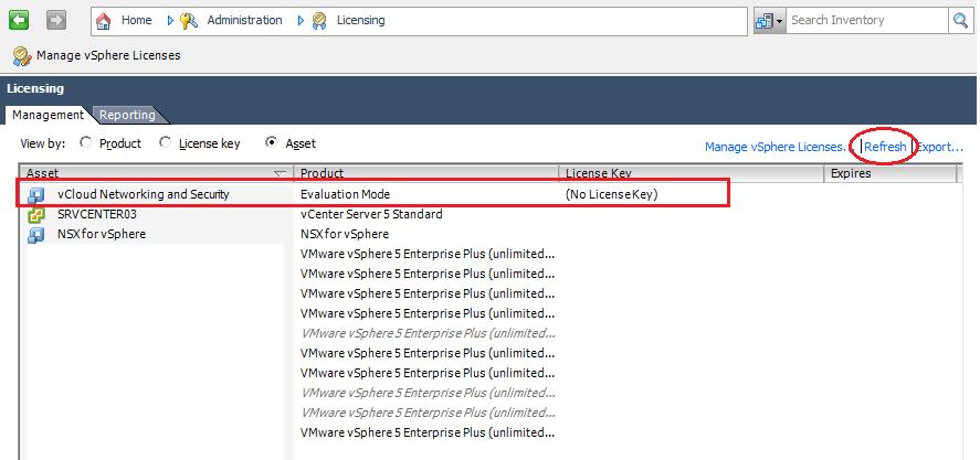 "vShield Manager error: ""Not licensed for Entity: vcloud-netsec"